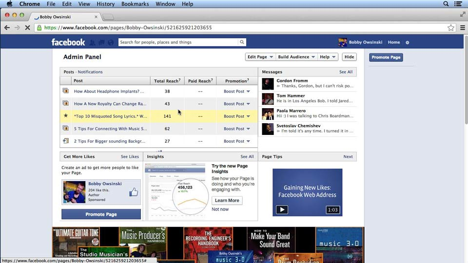 Facebook for Musicians and Bands course image
