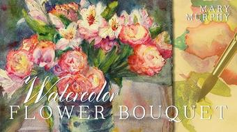 Watercolor Flower Bouquet  course image