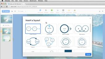 Up and Running with Prezi course image