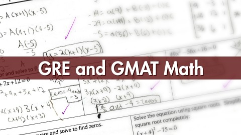GRE and GMAT Math - So Easy a Child Could Do It course image