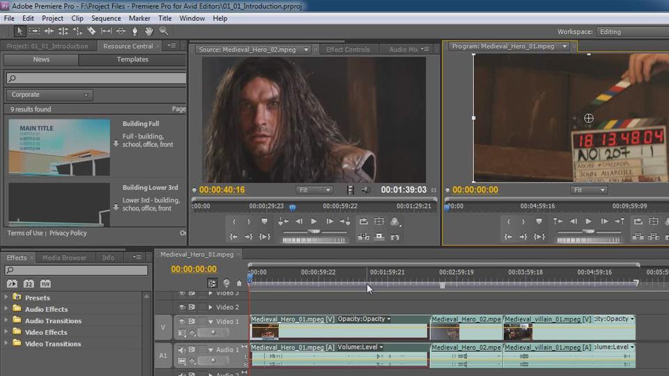 Premiere Pro CS5 for Avid Editors course image