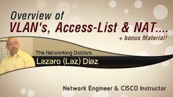 Cisco CCNA: Vlans, Access-List & NAT + Bonus Material! course image