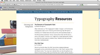 Typography for Web Designers course image
