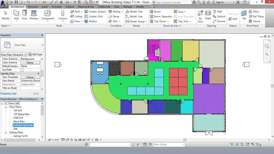 Lynda revit for interior design space planning for Interior design space planning software