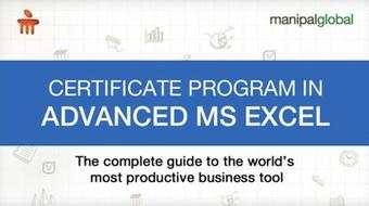 Certificate Program in Advanced MS Excel course image