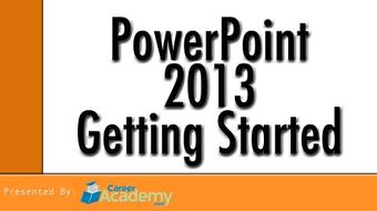 PowerPoint 2013 - Getting Started course image