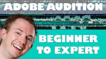 Adobe Audition CC Audio Production Course Basics to Expert course image