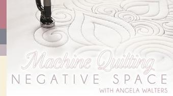 Machine Quilting Negative Space course image
