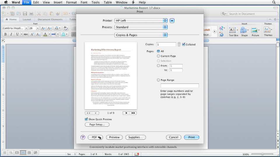 Word for Mac 2011 Essential Training course image
