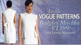 Inside Vogue Patterns: Badgley Mischka V1399 course image