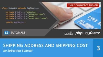 Shipping address and Shipping cost for E-commerce series course image