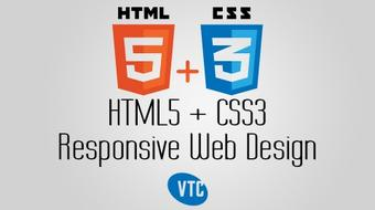 HTML5 + CSS3 Responsive Web Design course image