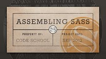 Assembling Sass course image