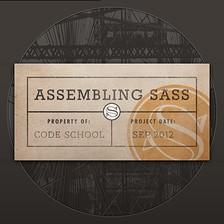 Assembling Sass course image