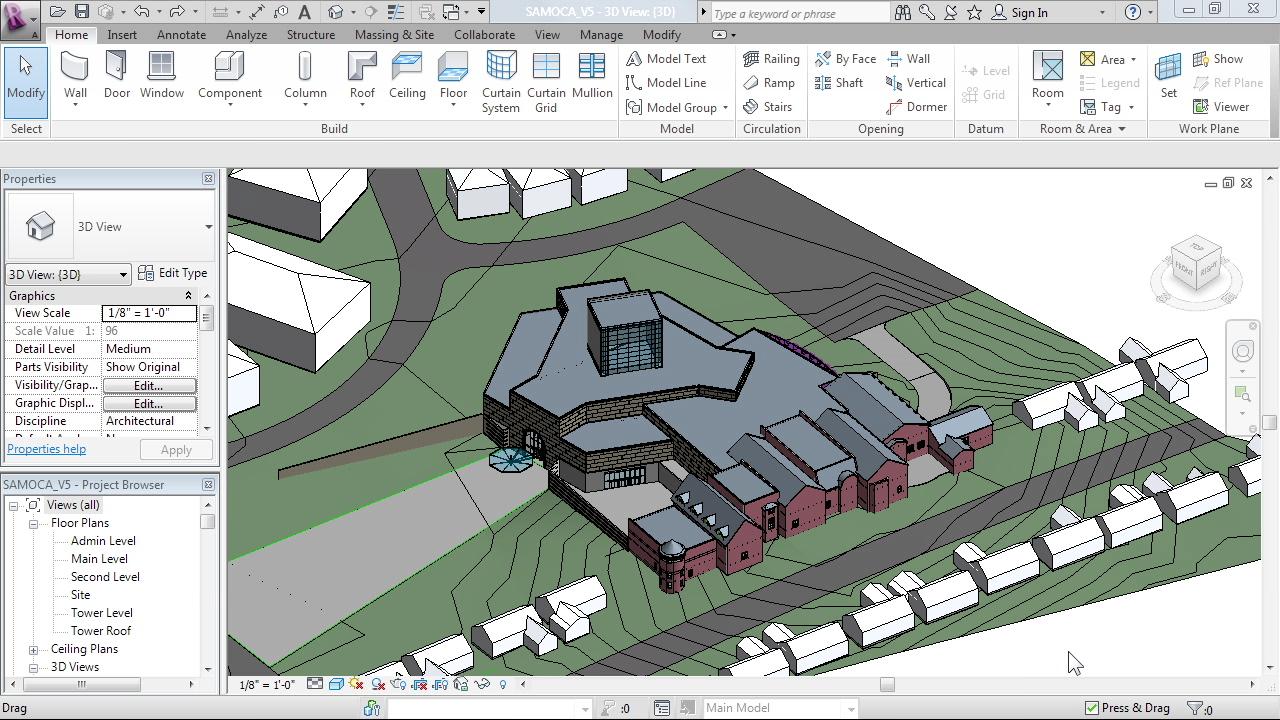 Lynda advanced modeling in revit architecture student for Revit architecture for residential house design 1