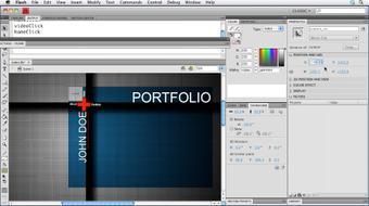 Creating a Portfolio Web Site Using Flash CS4 Professional course image