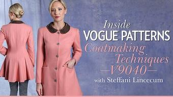 Inside Vogue Patterns: Coatmaking Techniques V9040 course image
