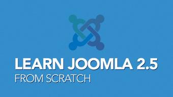 Learn Joomla 2.5 from scratch course image