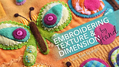 Embroidering Texture & Dimension by Hand course image