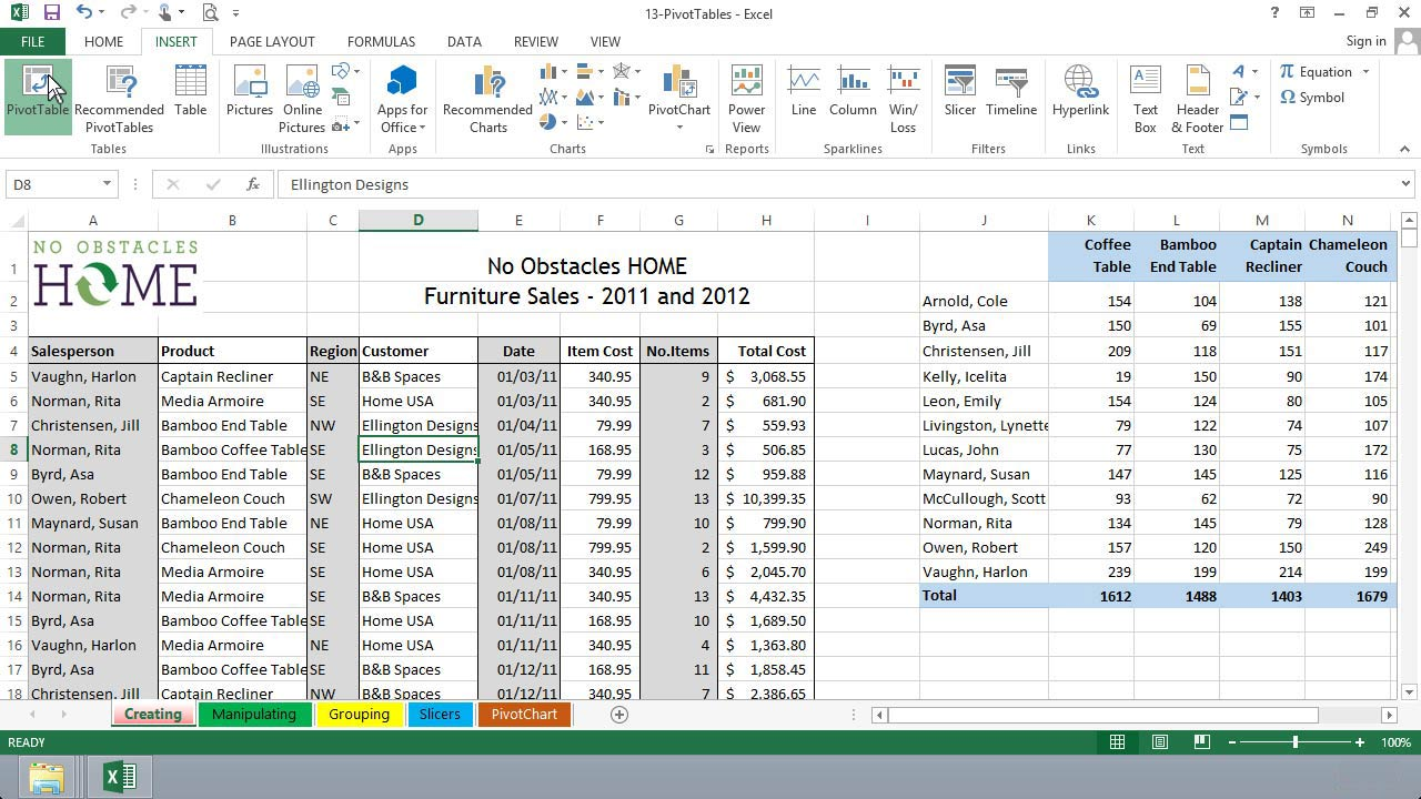 Excel 2013 Essential Training course image