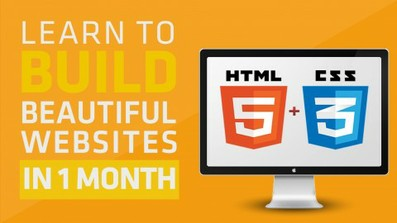 Learn To Build Beautiful HTML5 And CSS3 Websites In 1 Month course image
