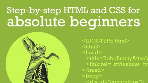 Step-by-step HTML and CSS for Absolute Beginners course image