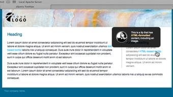 Create a Tooltip with jQuery course image