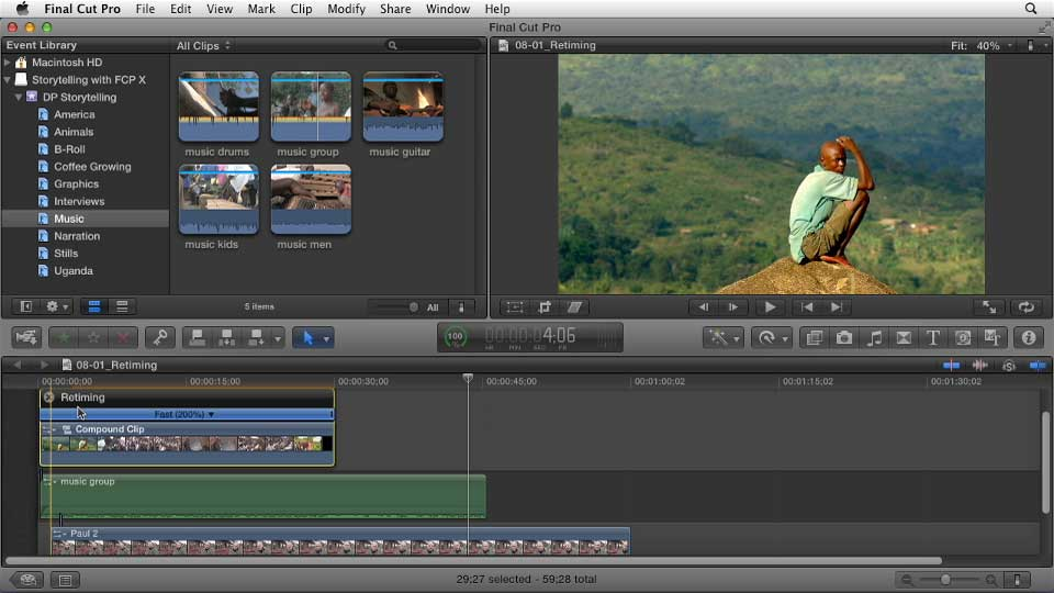 Effective Storytelling with Final Cut Pro X v10.0.9 course image