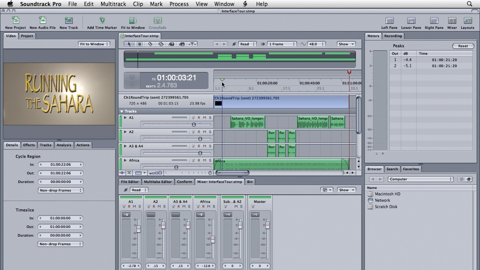 Soundtrack Pro 3 Essential Training course image