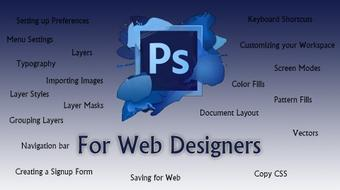 Start your Web Design Career with Adobe Photoshop course image