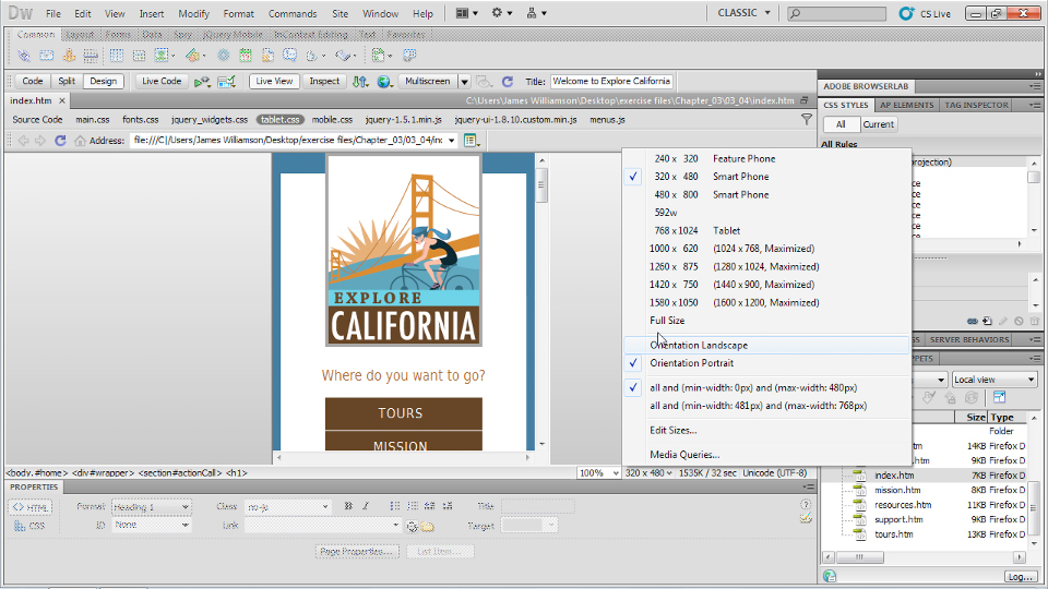 Dreamweaver CS5.5 New Features course image