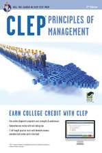 CLEP® Principles of Management Book + Online course image