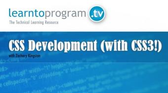 CSS Development (with CSS3!) course image
