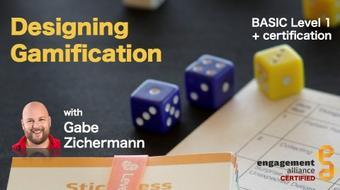 Designing Gamification Level 1 (Basic) + Certification course image