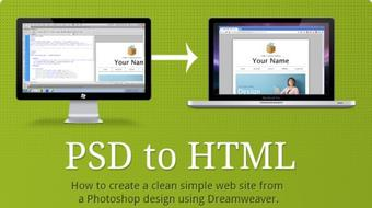 Beginner Photoshop to HTML5 and CSS3 course image