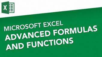Microsoft Excel - Advanced Formulas And Functions  course image