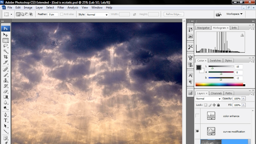 Photoshop CS3 Mastering Lab Color course image