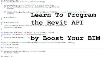 Learn to program the Revit API by Boost Your BIM course image