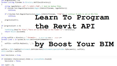 Udemy - Learn to program the Revit API by Boost Your BIM