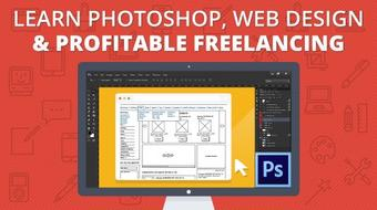 Learn Photoshop, Web Design & Profitable Freelancing course image