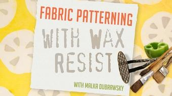 Fabric Patterning with Wax Resist course image