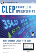 CLEP® Principles of Macroeconomics Book + Online course image