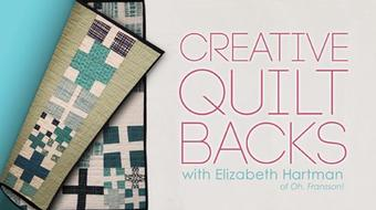 Creative Quilt Backs course image