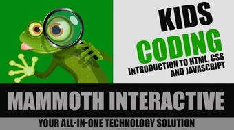 Kids Coding -Introduction to HTML, CSS and JavaScript course image