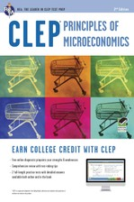 CLEP® Principles of Microeconomics Book + Online course image