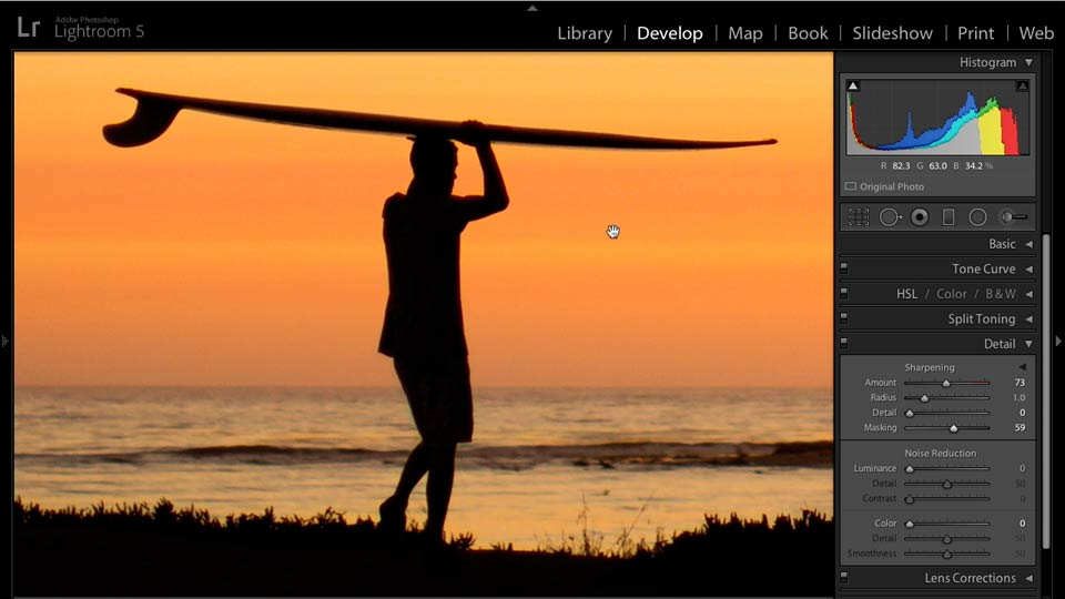 Enhancing a Sunset Photograph with Lightroom and Photoshop course image