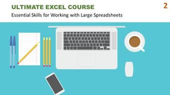 Ultimate Excel Course #2 - Essential Skills for Working with Large Spreadsheets course image