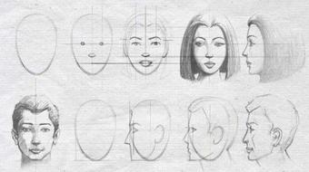 Drawing & shading beautiful Male and Female face -easy steps