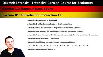 Intensive German: Part 12 - Nouns, nouns, nouns course image