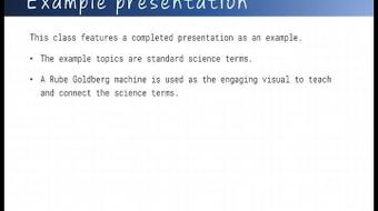 Teach and engage an audience with a visual in a PowerPoint presentation course image